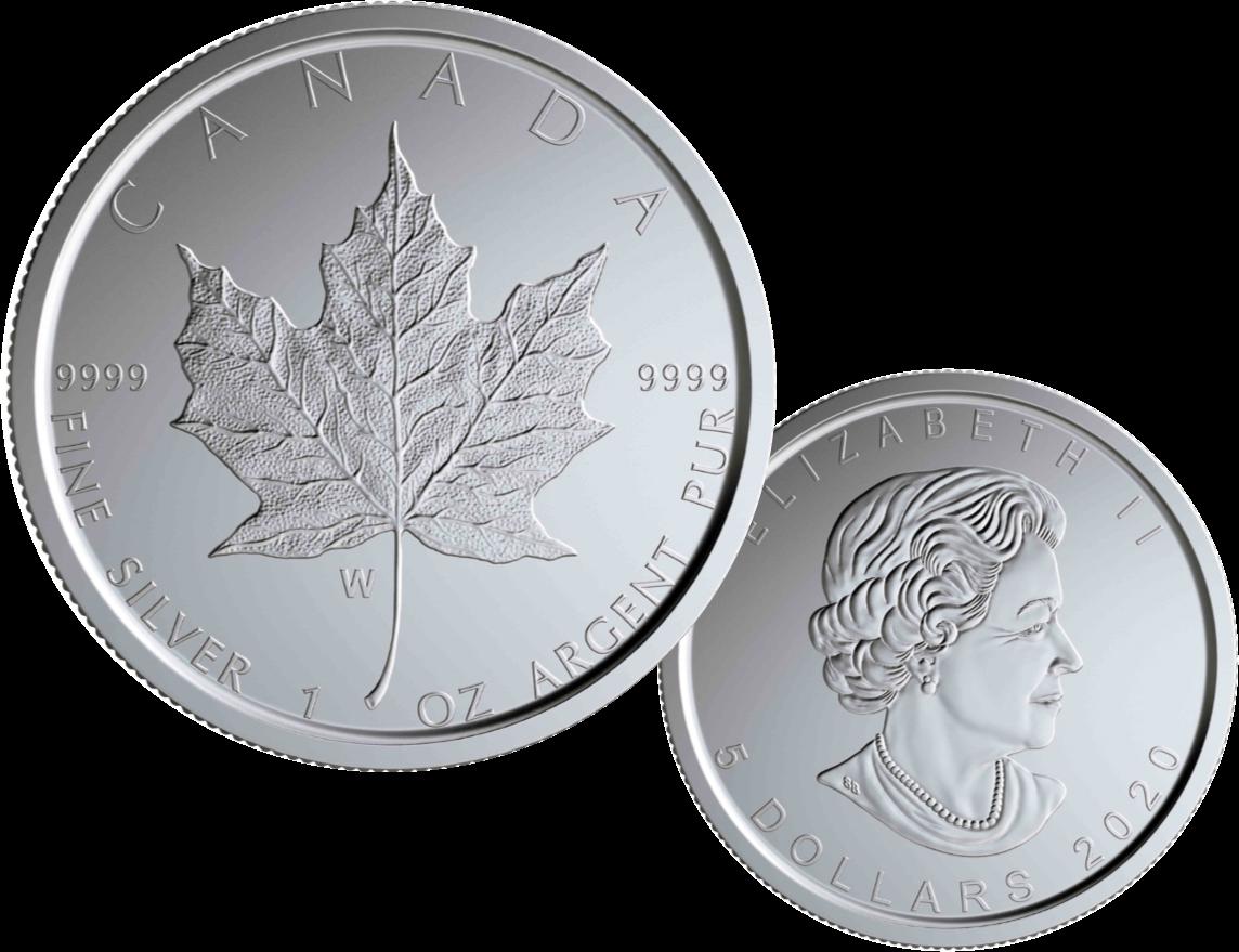 Silver Maple Leaf Burnished Limited Edition 2020 Winnipeg Mint